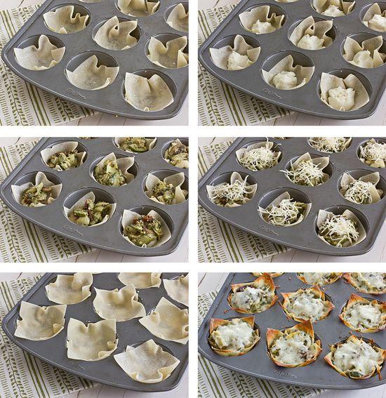 Mini Vegetable Lasagnas....gonna try it!!