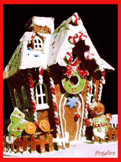 Gingerbread House Cool Things Pinterest