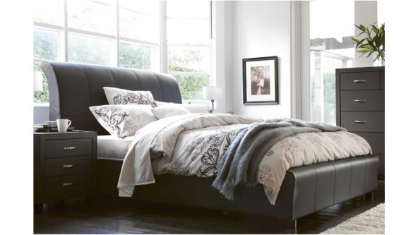 Amy Leather Lift Queen Bed - Bedroom Furniture | Harvey Norman Australia