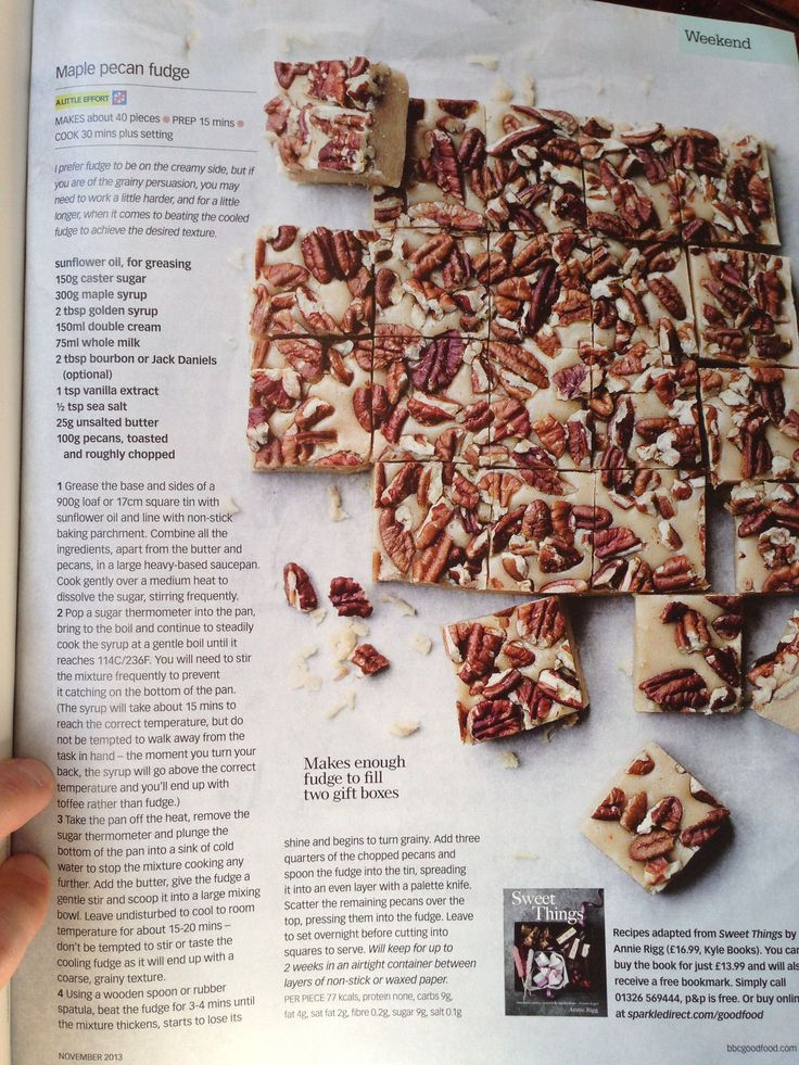 maple pecan fudge | Food I Want to Make | Pinterest