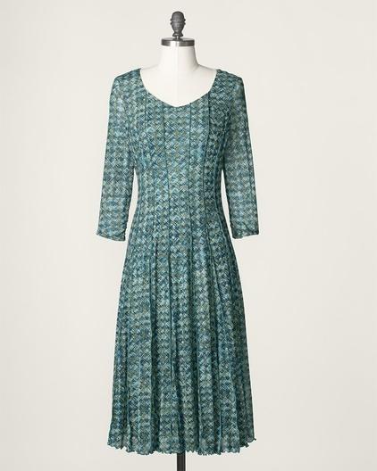 Crosshatch mesh dress