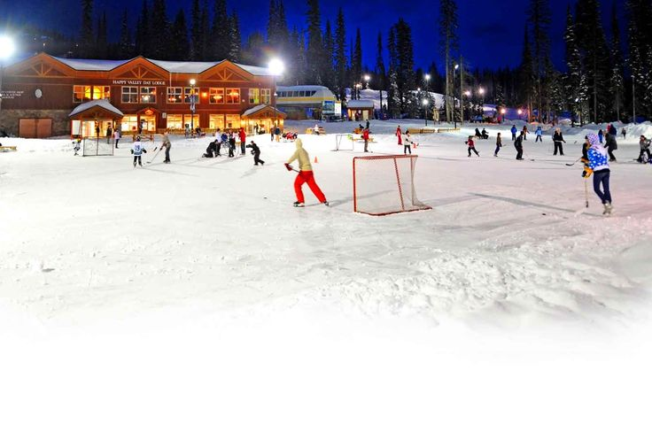 Biggest Backyard Ice Rink : Outdoor Ice Skating at Big White in Kelowna, BC Winter months only
