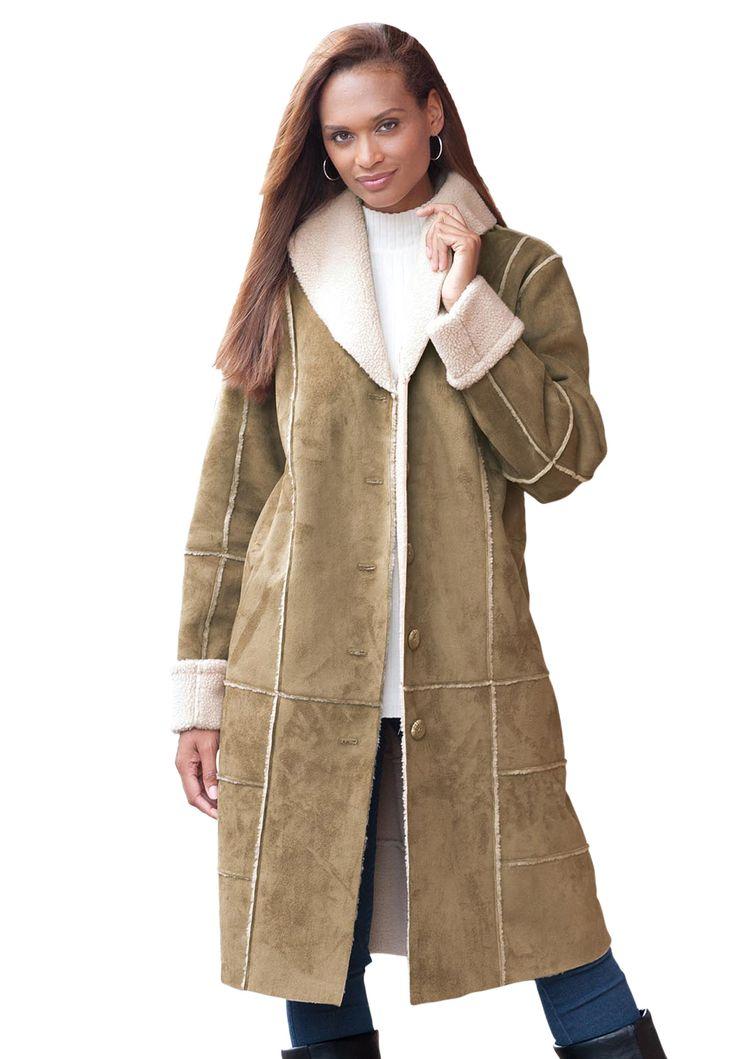 Faux shearling coat women