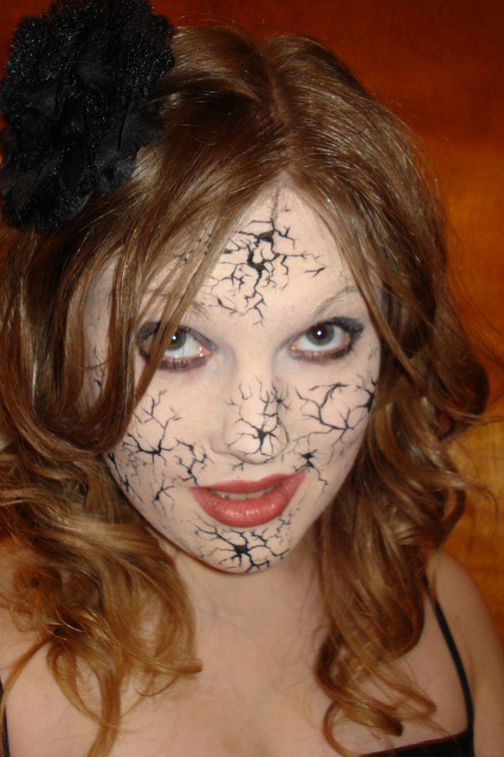 broken porcelain doll makeup make up pinterest