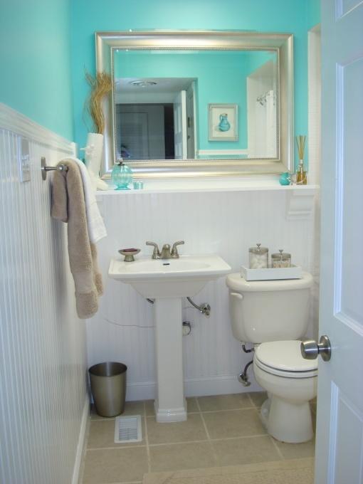 turquoise bathroom powder room pinterest