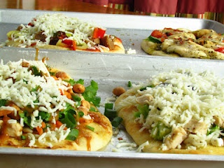 Grilled Pizza Bar - Thai Chicken Pizza, Chicken Broccoli White Pizza ...