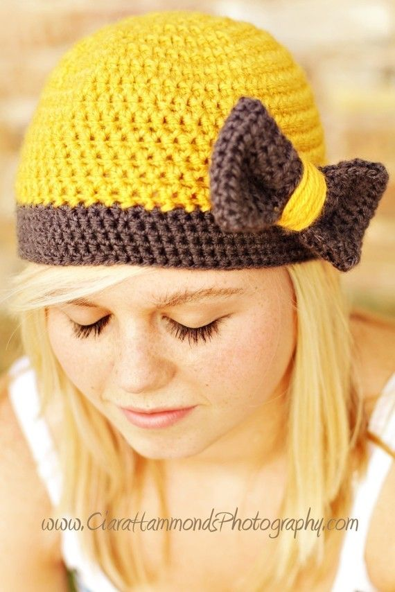 The Flapper Bow Beanie Ladies Hat Crochet Pattern PDF 26