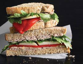 Always thought this vegan walnut pate sandwich w/ pears and arugula ...
