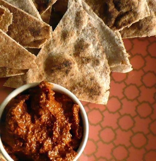 Muhammara- A tangy, spicy spread made with roasted red peppers ...