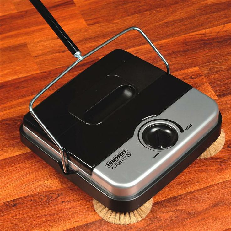 11 Non Electric Floor Sweeper With Corner Brushes
