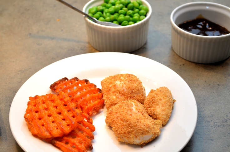 Oven Baked Chicken Tenders with Apricot-Balsamic Sauce