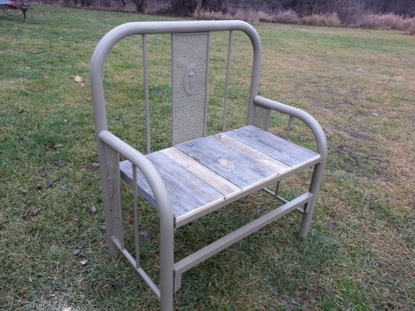 Recycled Metal Bed Garden Bench Hoardermart Unity In Hoarding Pi