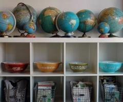 Vintage Chic Goods: Vintage Globes...a new design trend!