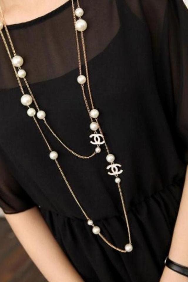 chanel pearl necklace pearl
