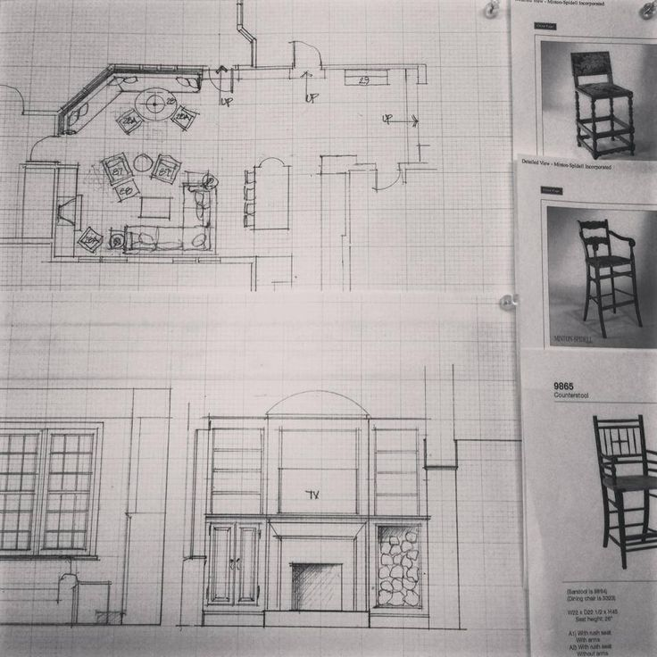 Floor plans for kitchen and family room of client's home. Which wooden ...