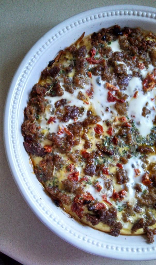 Frittata With Zucchini, Sun-Dried Tomatoes, And Sausage Recipe ...