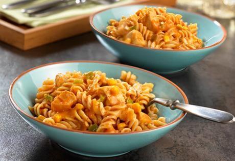 Campbell's Cheesy Rotini & Chicken Skillet Recipe