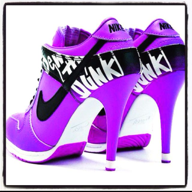 Purple And Neon Green Nike Shoes