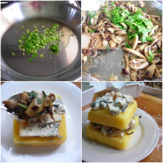 Mushroom & Gorgonzola Pressure Cooker Polenta Lasagna | hip pressure ...