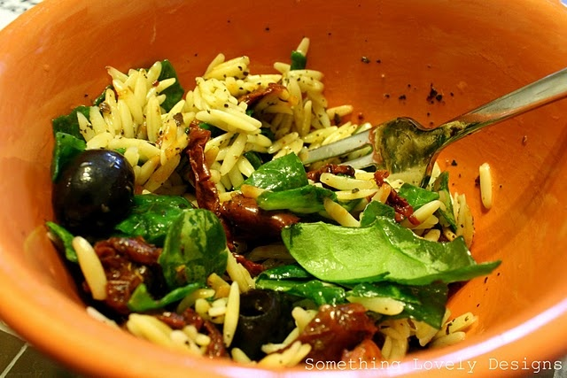 Spinach and orzo salad | Food | Pinterest