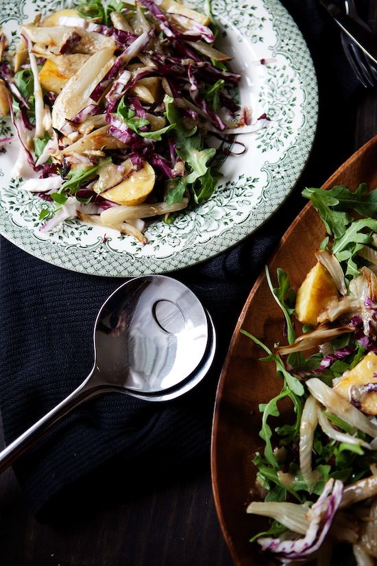 Roasted fennel salad with bagna cauda dressing