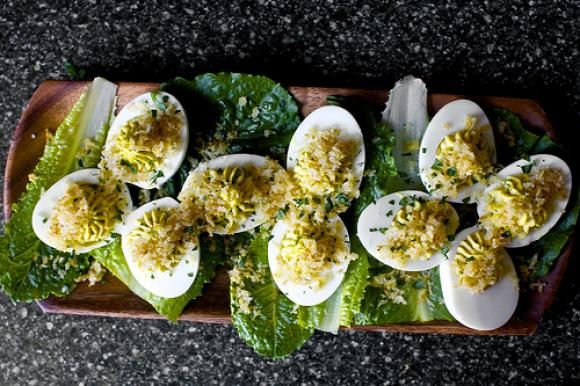 Caesar Salad Deviled Eggs | Food and Drink | Pinterest