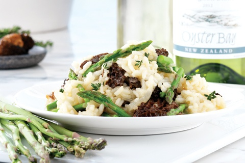Spring risotto with Asparagus and Morels | Get in mah Belly! | Pinter ...