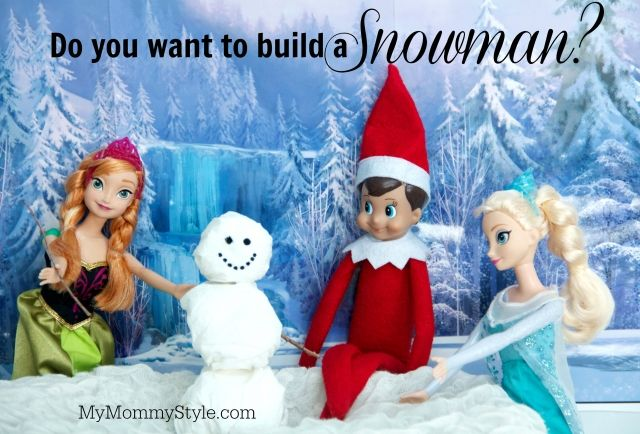 elf on the shelf + frozen, do you want to build a snowman, #elfontheshelf, #frozen, mymommystyle.com