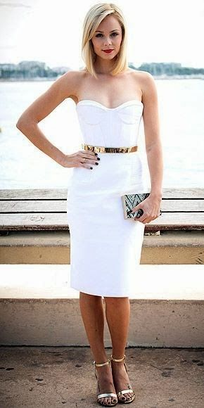 Fashionable White Prom Dress