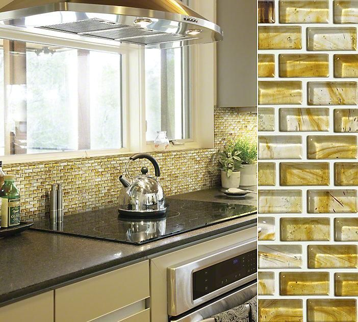 ... and cozy. Shaw's Glass expression tile, perfect #backsplash choice