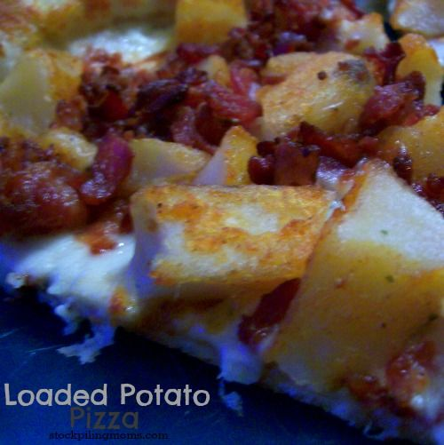 Loaded Potato Pizza - Bacon, Potatoes and Pizza = Amazing http://www ...
