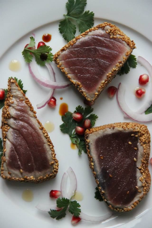 Grilled Tuna With Red Tomatillo Sauce Recipes — Dishmaps