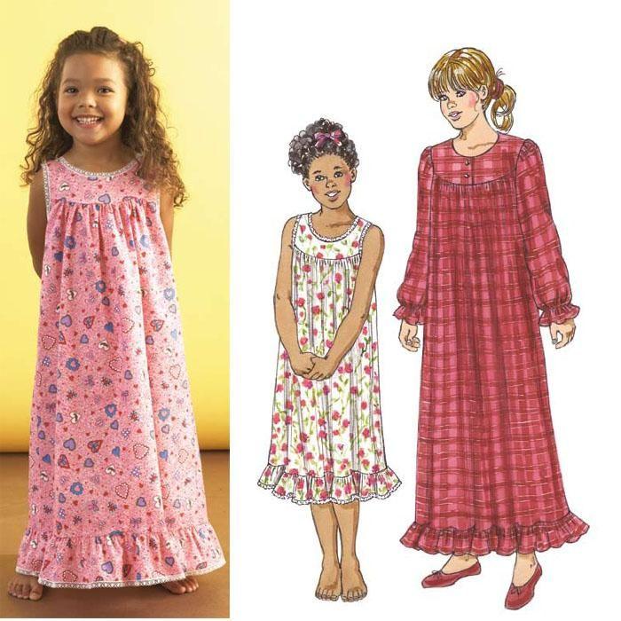 Kwik Knit Patterns : Kwik Sew Girls Nightgown Pattern