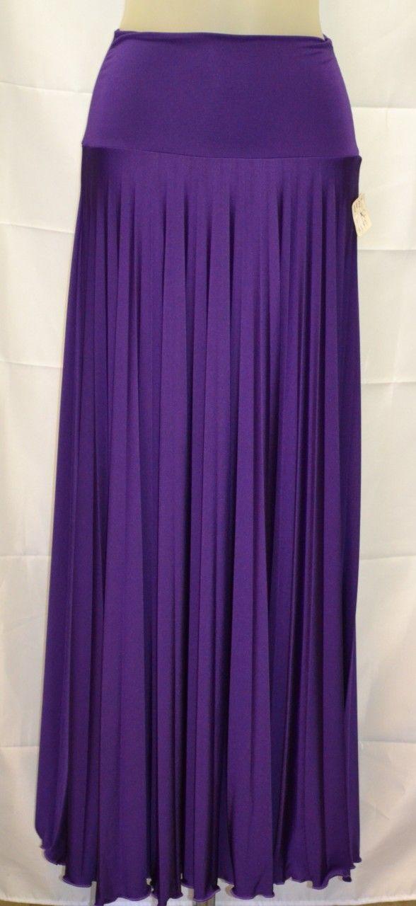 royal purple hayaa pleated maxi skirts