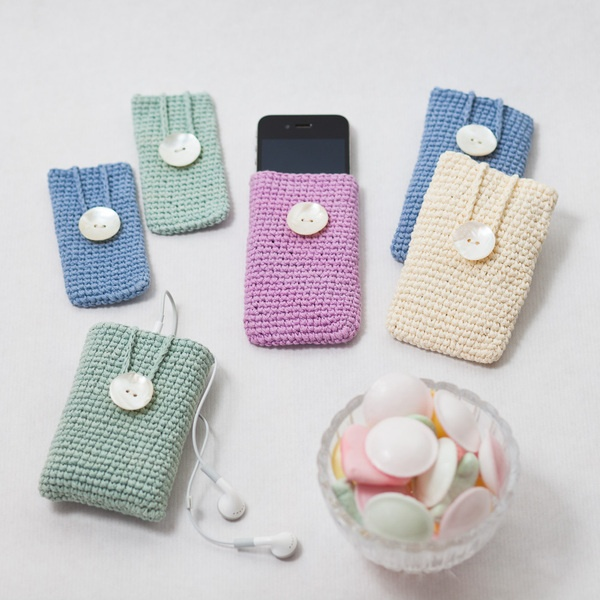Crocheted Wide Gadget Phone iPhone Case 8x10cm