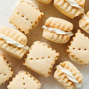 Vanilla Bean Shortbread Sandwiches   Recipe