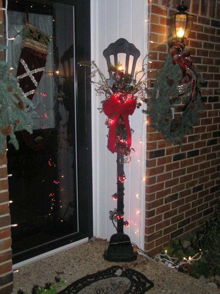 christmas lamp post holidays pinterest
