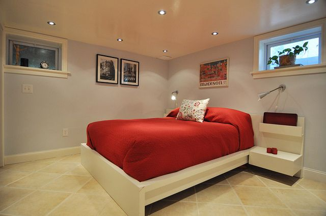 in each of the girls rooms recessed lighting in basement bedroom