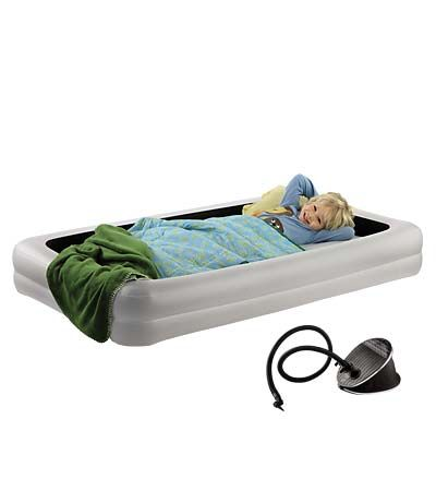 the shrunks tuckaire indoor toddler travel bed bed