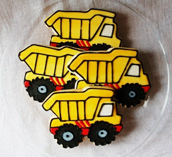 Dump truck cookies. www.cookiemummas.com.au