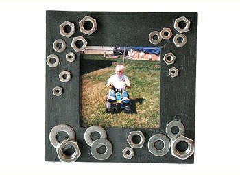 Father's Day Crafts: Car Nut Frame - Kids' Gift Ideas for Dad - Kaboose.com