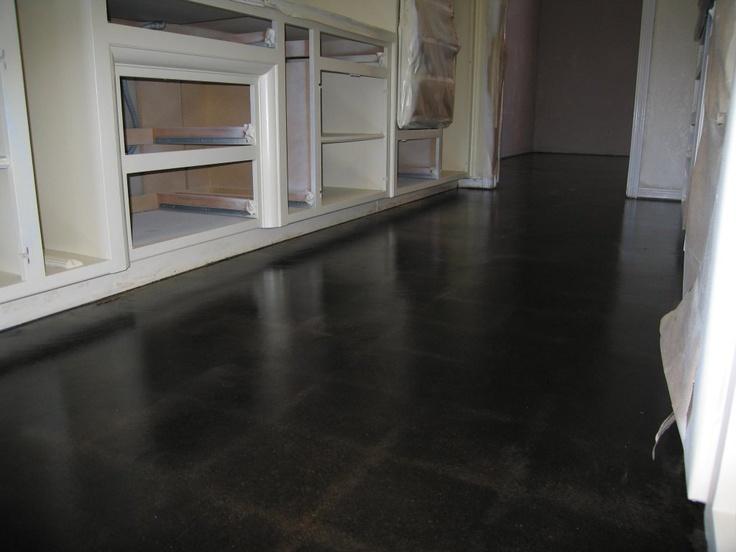 Black Concrete Floor Home Decor Pinterest