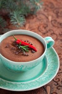 Mexican chocolate mousse is really rich and special. Serve it just as ...