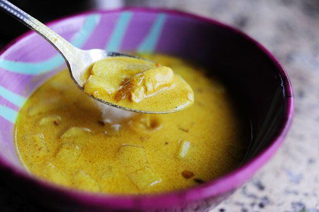 Mulligatawny soup. My favorite soup ever.