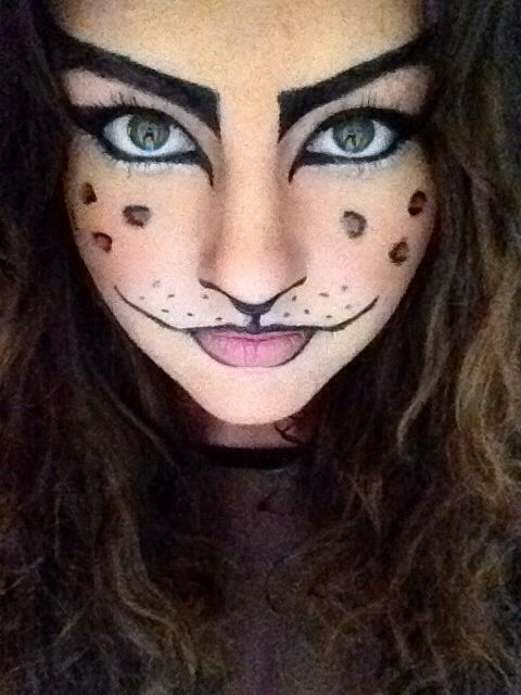 cat makeup! halloween : Halloween Face painting : Pinterest