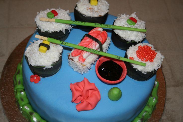Sushi birthday cake. | My Cakes | Pinterest