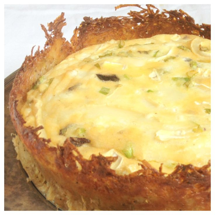 ... crust - Goat Cheese Quiche with Hash Brown Pie Crust (gluten-free