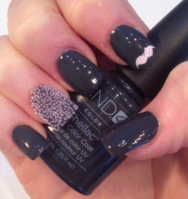 Shellac with #nail caviar #movember | No3 Lash & Brow Bar | Pinterest