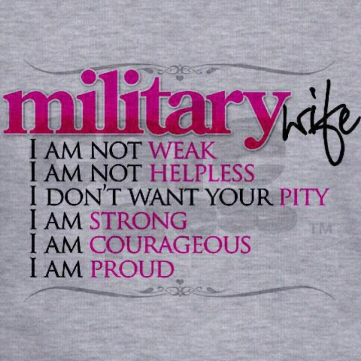 Proud military wife quotes