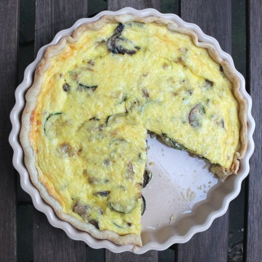zucchini leek mushroom quiche | to bake, boil, fry or simply combine ...